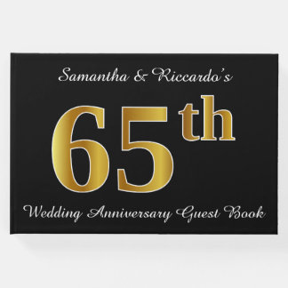 Aniversário de casamento do olhar 65th do ouro do livro de visitas