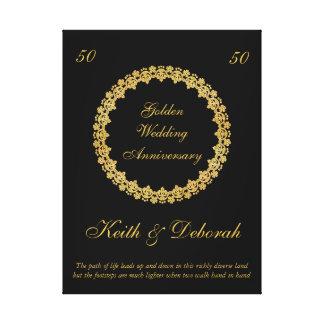 Aniversário de casamento dourado customizável