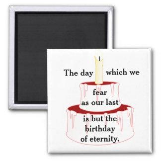 Aniversário de Eternityp Ímã Quadrado