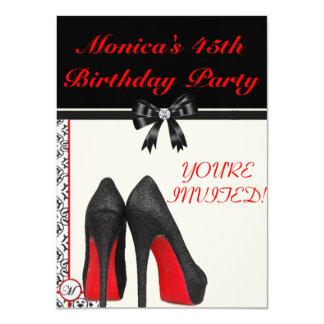 Aniversário de Monica o 45th convida Convite 11.30 X 15.87cm