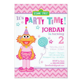Aniversário de Zoe Convite 12.7 X 17.78cm