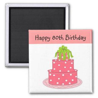 aniversário do 80 ímã quadrado