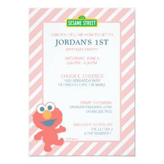 Aniversário do bebê de Elmo Convite 12.7 X 17.78cm