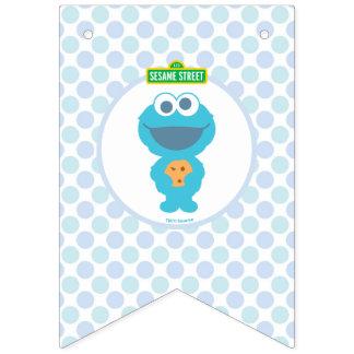 Aniversário do bebê do monstro | do biscoito o bandeirinha
