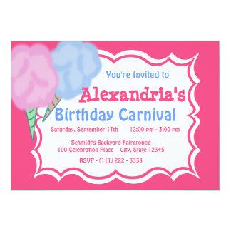 Aniversário do carnaval convite 12.7 x 17.78cm