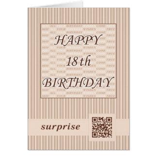 Aniversário do cumprimento Card.Happy 18o! Cartão Comemorativo