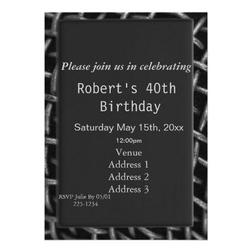 Aniversário do fio de aço convite personalizado