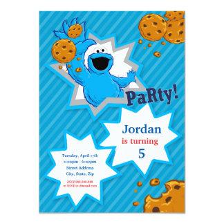 Aniversário do monstro do biscoito convite 11.30 x 15.87cm