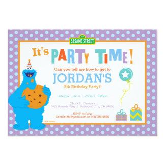 Aniversário do monstro do biscoito convite 12.7 x 17.78cm