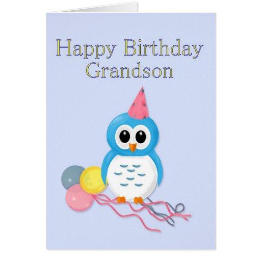 Aniversário do neto cartão