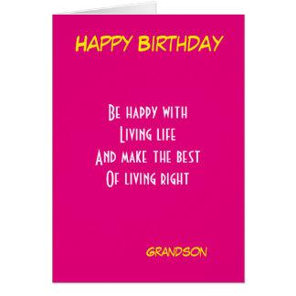 Aniversário do neto cartão comemorativo