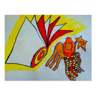 aniversário do original do design da pintura da cartão postal