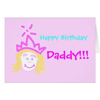 Aniversário do pai da princesa com verso cartão comemorativo