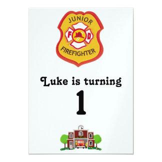 aniversário do sapador-bombeiro convite 12.7 x 17.78cm