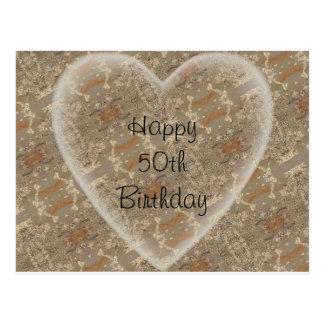 aniversário do th 50 cartão postal