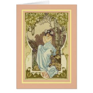 Aniversário do vintage cartão