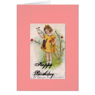 aniversário do vintage, feliz aniversario cartão comemorativo