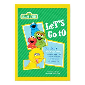 Aniversário dos amigos do Sesame Street Convite 11.30 X 15.87cm