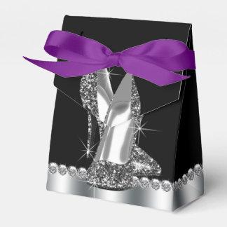 Aniversário dos calçados do salto alto do brilho lembrancinhas para casamento