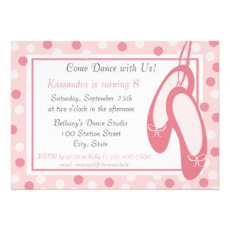 Aniversário dos deslizadores da bailarina convite
