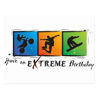 Aniversário extremo cartão postal