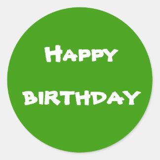 Aniversário, feliz adesivo