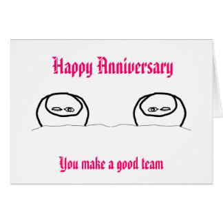 Aniversário feliz - boa equipe cartão comemorativo
