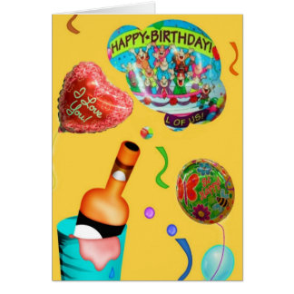 Aniversário festivo cartão comemorativo