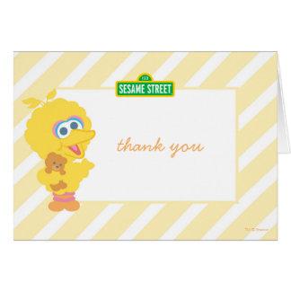 Aniversário grande do bebê do pássaro cartão de nota