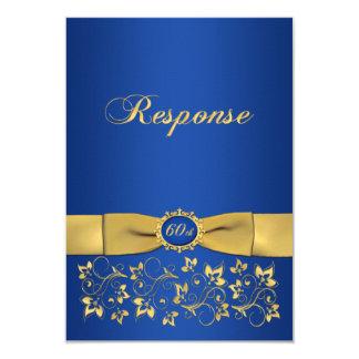 Aniversário IMPRESSO RSVP da forma 60th do rico da Convite 8.89 X 12.7cm