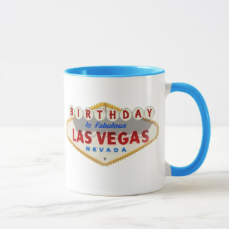 Aniversário na caneca fabulosa de Las Vegas