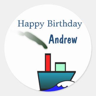 Aniversário náutico do navio adesivo
