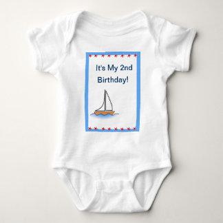 Aniversário náutico do veleiro t-shirt