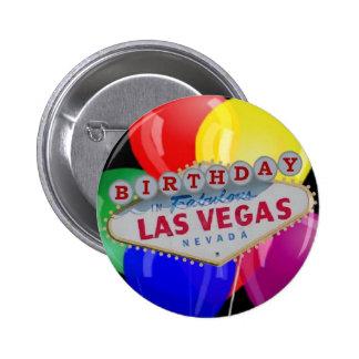 Aniversário no botão fabuloso de Las Vegas - balõe Boton