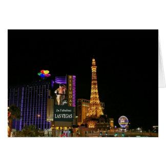 ANIVERSÁRIO no cartão fabuloso de Las Vegas