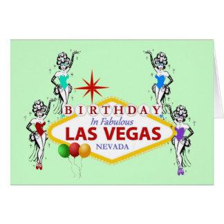 Aniversário no cartão fabuloso dos artistas de Las