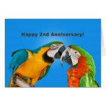 Aniversário, òs, papagaios Loving Cartoes