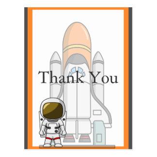 Aniversário pequeno do astronauta & da nave espaci cartoes postais