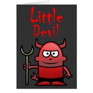 Aniversário pequeno do diabo cartão comemorativo