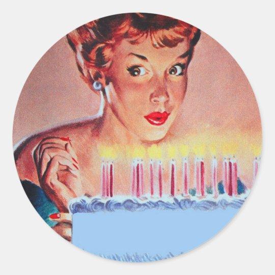 Aniversário retro dos anos 50 adesivo