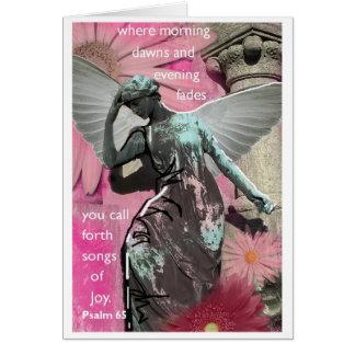 Anjo, alegria cartão comemorativo