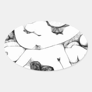 Anjo com coração adesivos em formato ovais