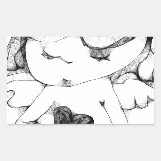 Anjo com coração adesivos em forma retangular