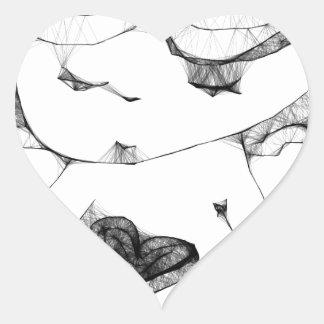 Anjo com coração adesivos em forma de corações