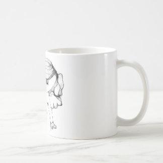 Anjo com coração caneca de café