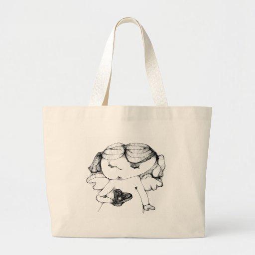 Anjo com coração bolsa para compras