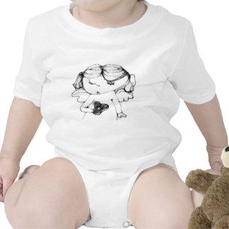 Anjo com coração macacãozinho para bebê