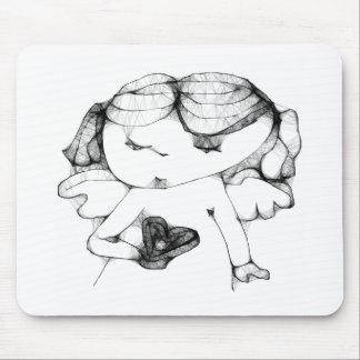 Anjo com coração mousepad
