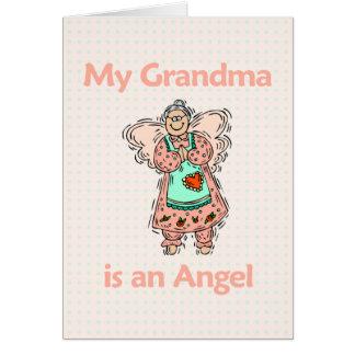 Anjo da avó cartão comemorativo