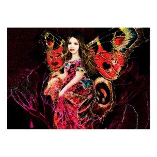 Anjo da borboleta do coração cartão de visita grande